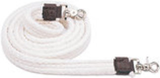 Cotton Roping Rein, 7' White