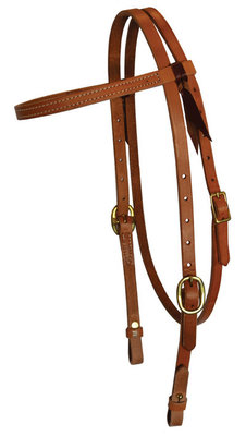 Court's Brass Stud Quick Change Headstall