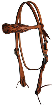 Court's Floral Browband Headstall