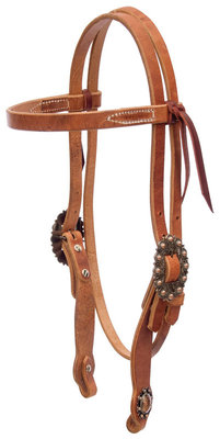 Cowboy Culture Copper Berry Headstall, Browband