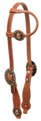 Cowboy Culture Copper Berry Headstall, One Ear