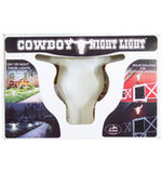 "Cowboy Night Light, 15-1/2"" H x 24"" W"