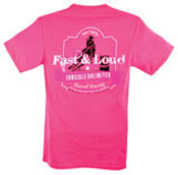 "Cowgirls Unlimited ""Fast & Loud"" T-Shirt, Neon Pink"