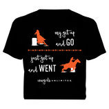 "Cowgirls Unlimited ""Get Up & Go"" T-Shirt, Black"