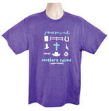 "Cowgirls Unlimited ""Southern Raised"" T-Shirt, Heather Purple"