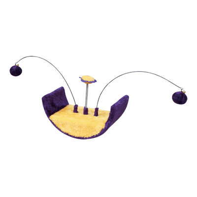 Cradle Shaped Cat Toy with Teasers