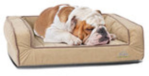 "Crown Supreme Bolster Dog Bed, 30"" x 40"" x 4"""