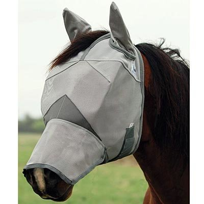Crusader Fly Mask Long Nose w/ Ears, Horse