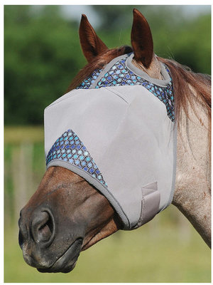 Crusader Patterned Fly Mask without Ears