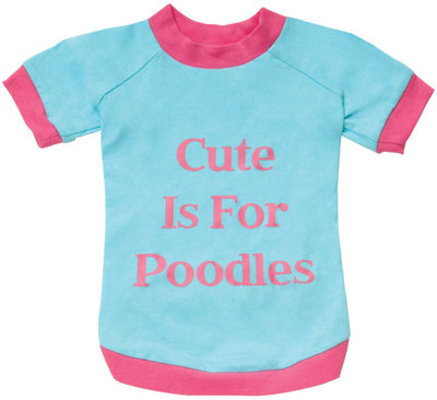 Cute is for Poodles Dog T-Shirt