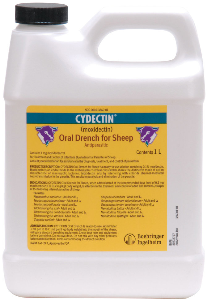 Cydectin Oral Sheep Drench Wormer By Bayer Jeffers Pet