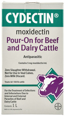 Cydectin Pour-On Cattle Wormer