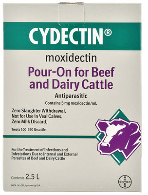 Cydectin Pour-On Cattle Dewormer, 2.5L