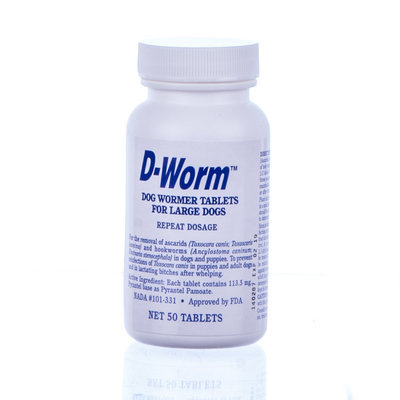 D-Worm™ Non-Chewable Large Dog, 50 pk