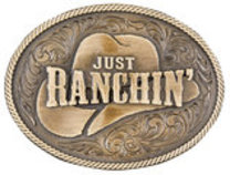 "Dale Brisby ""Just Ranchin'"" Belt Buckle"
