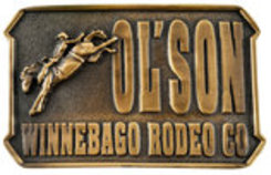 "Dale Brisby ""Ol' Son, Winnebago Rodeo Co."" Belt Buckle"