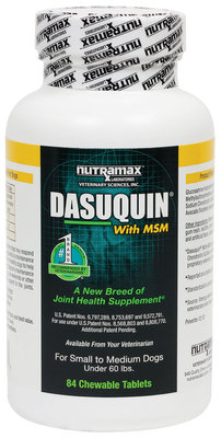 Dasuquin w/ MSM (84 Chewable Tablets) for Small/Med Dogs