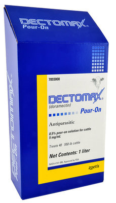 Dectomax Pour-On Cattle Wormer, 1 L