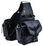 Deluxe Horse Saddle Bags, Black