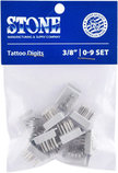Stone® Standard Tattoo Digits, 0-9 Set