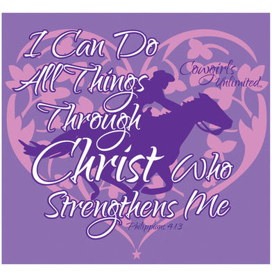I Can Do All Things Through Christ... T-Shirt, Violet