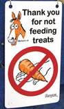 "Fergus ""Do Not Feed"" Stall Sign"