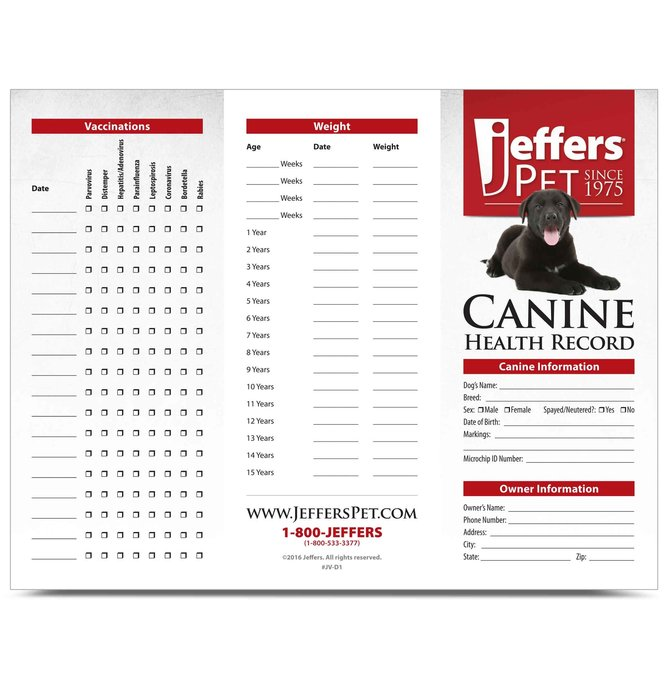 Pet Health Record Book
