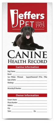 Dog Health Records, 10 pk