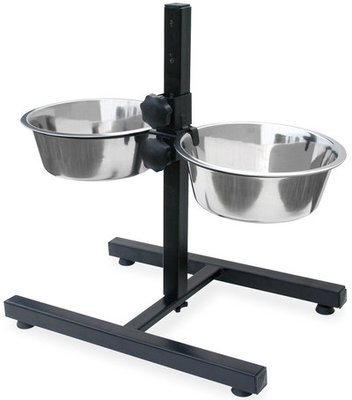 Adjustable Double Diner Stand for Dogs, 96 fl oz