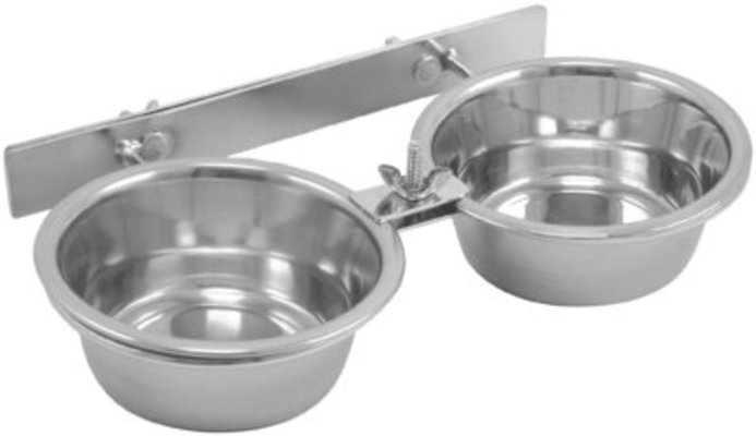 Double Feeding Bowls with Clamp