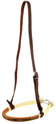 Double Rope Leather Cover Noseband