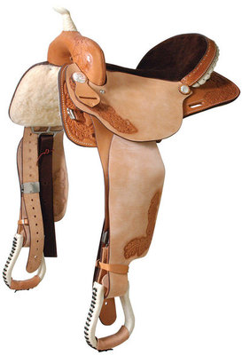 Dr. J® Barrel Saddle, Roughout & Honey