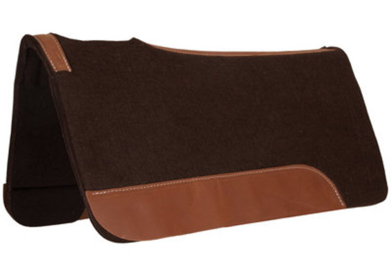 "Dr. J® Chocolate Felt Contoured Saddle Pad (1"" thickness)"