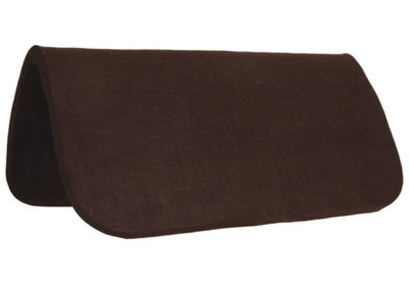 "Dr. J Chocolate Felt Saddle Pad (1/2"")"