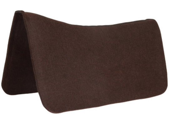 Dr. J Contoured Felt Saddle Pad, Brown 1/2""