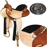 Dr. J Barrel Saddle, Golden Oak