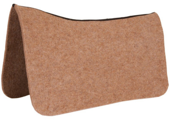Dr. J® Wool Contoured Saddle Pad (Tan)