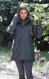 Dublin Amy Mid-Length Waterproof Parka, Dark Shadow