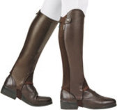 Dublin Evolution Rear Zip Half Chaps, Brown
