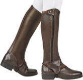 Dublin Evolution Side Zip Half Chaps, Brown