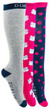 Dublin Fox Print Boot Socks, 3 Pack