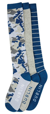 Dublin Ladies Camo Boot Socks, 3 Pack