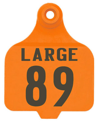 Duflex Numbered Panel Ear Tags (Large), 25 count
