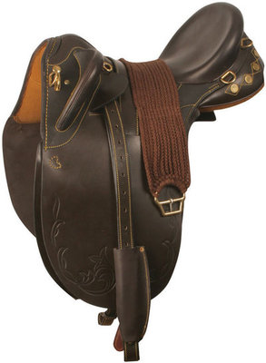 Poly Stock Saddle w/Girth, 16 in Seat