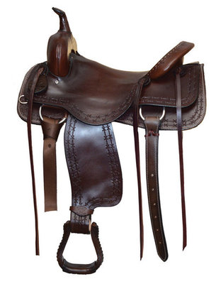 Dr. J Pro Series Cutting Saddle, Show Brown