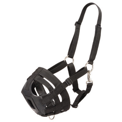 Easy Breathe Grazing Muzzle- Black- Horse