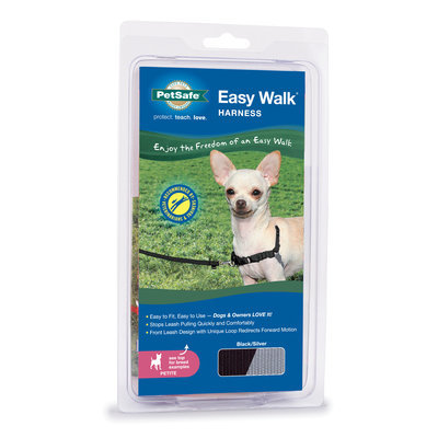 "Black, 12""-16"" Easy Walk Harness"