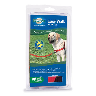 "Red, 26""-36"" Easy Walk Harness"