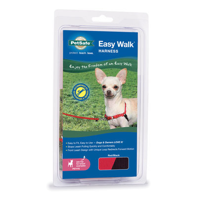 "Red, 12""-16"" Easy Walk Harness"