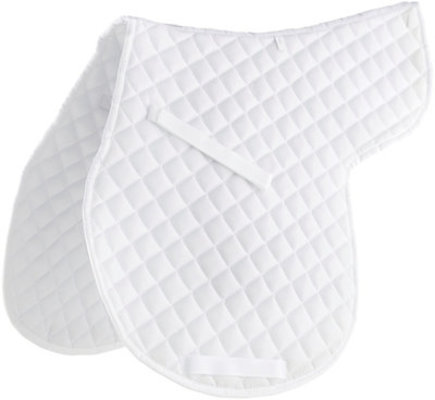 Economy Contour Saddle Pad, White